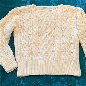 Liz Claiborne hand knit cable sweater